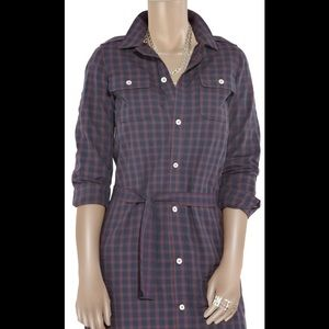 A.P.C Multicolored Checked PlaidCotton Shirt Dress